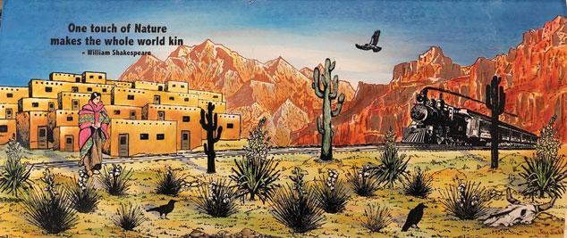 Southwestern Train by Joy Judd