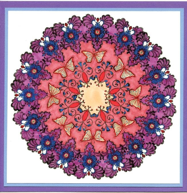 Springtime Serenity Mandala by Aimee Eliason